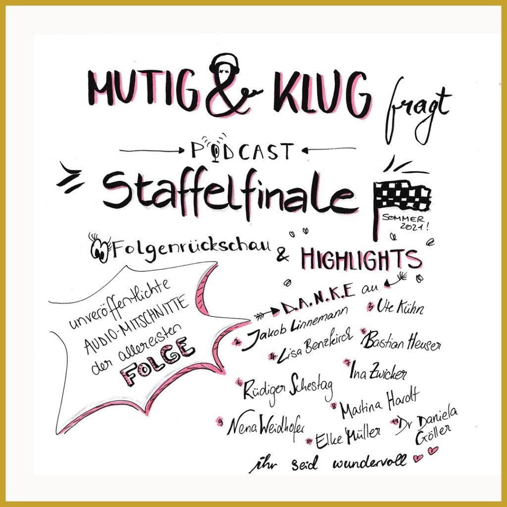 Mutig und Klug fragt - graphic recording zur Staffelrückschau