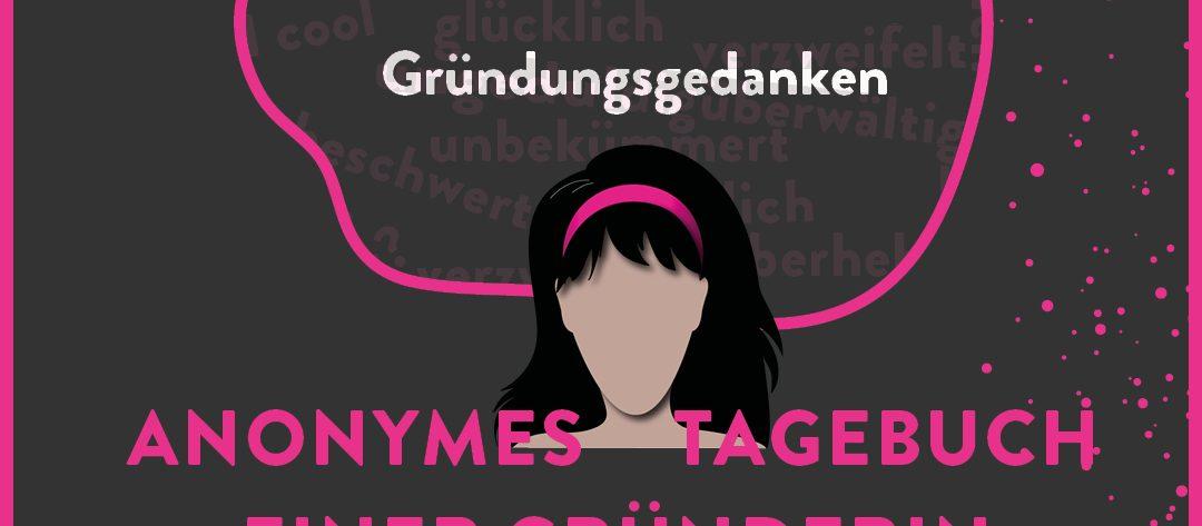 Logo Tagebuch schwarzhaarige Frau comic style